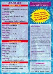 "Programme stage ""Baile y Sol Blanes 2013"""